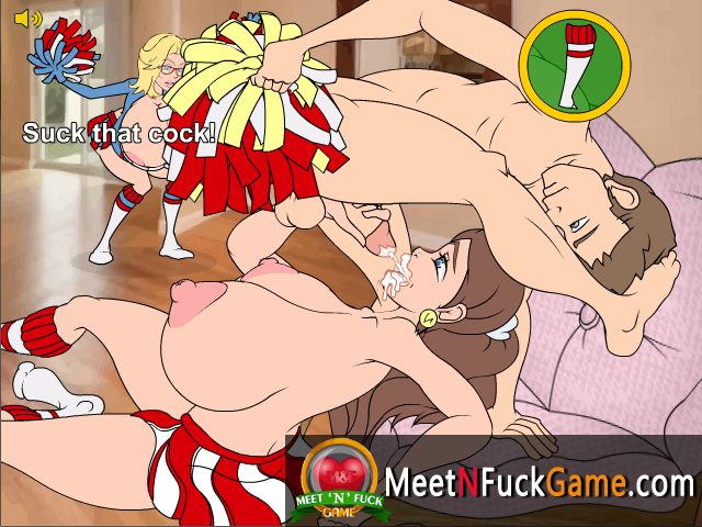 Busty Family Cheer Squad sex game screenshot 3