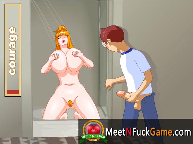 Mizuki Shower guy watching girl taking a bath