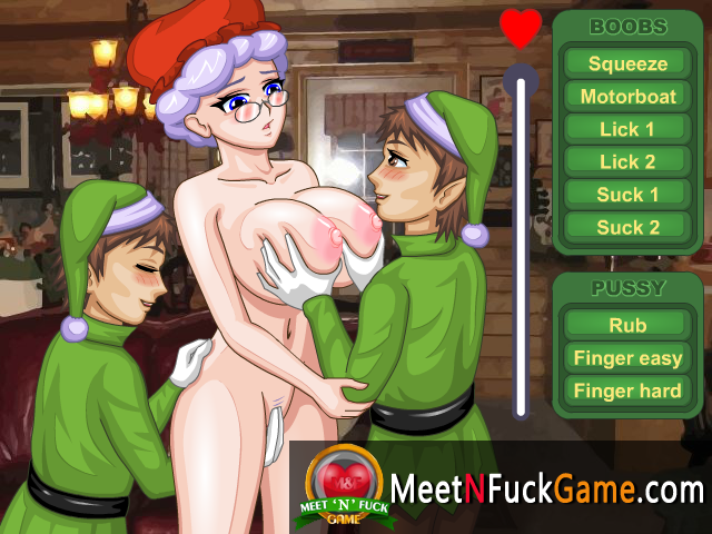 Mrs.Santas Helpers Girl fucked by two men