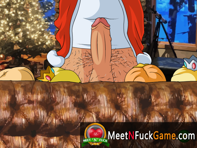 Nintendo Christmas four girls one cock