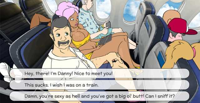 Plane Fellow play sex game
