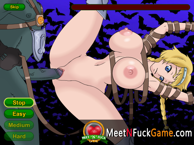 Queen's Blade tied girl fucked really hard