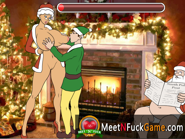 Unfaithful Mrs. Claus Mary fucks Elf